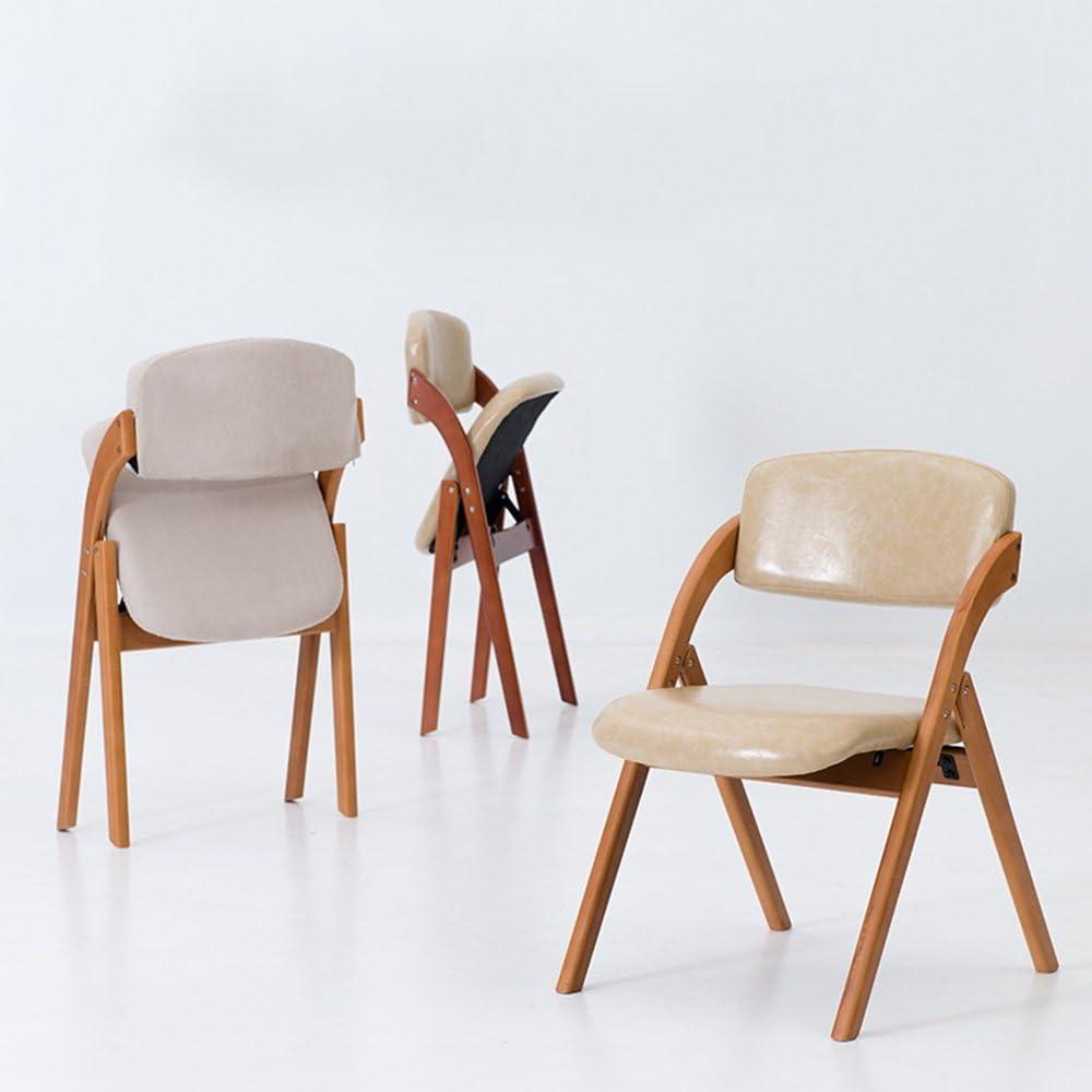 Chaises FEI Confortable Pliante m/énage en Bois Massif /à Manger Fauteuil Fauteuil Solide et Durable Couleur : A