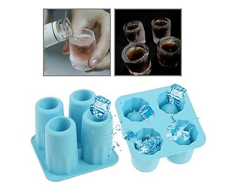 Ice Shot Cristal Maker Bandeja Forma – Macht Shot Vasos de Chocolate, Hielo, Zumo