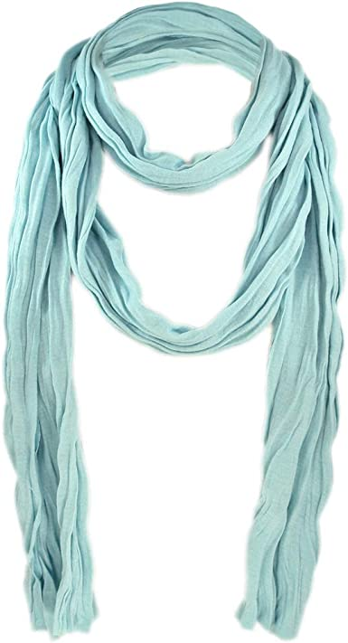Pale Turquoise Cotton Scarf