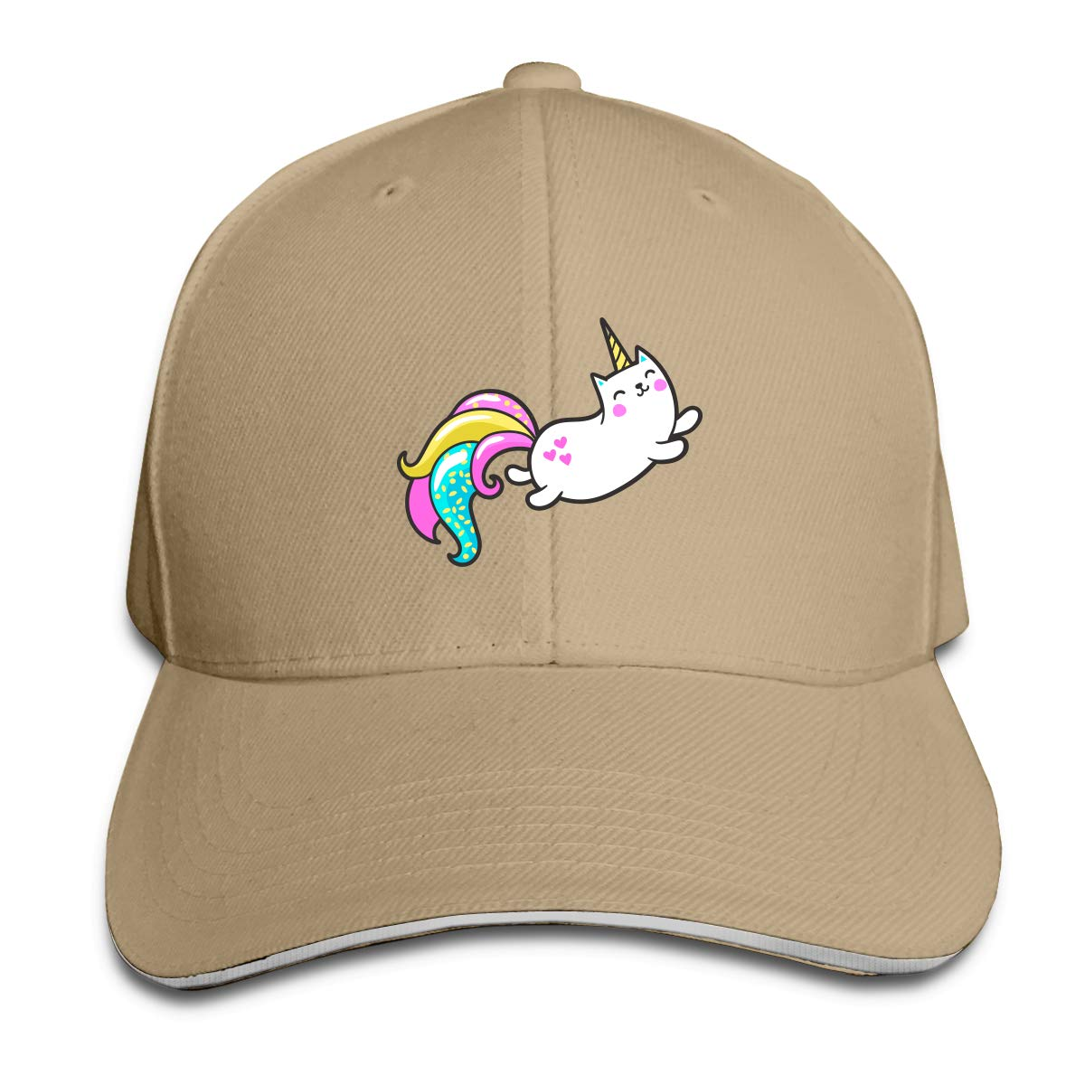 WFIRE Adult Baseball Caps Cute Unicorn Cat Custom Adjustable Sandwich Cap Casquette Hats
