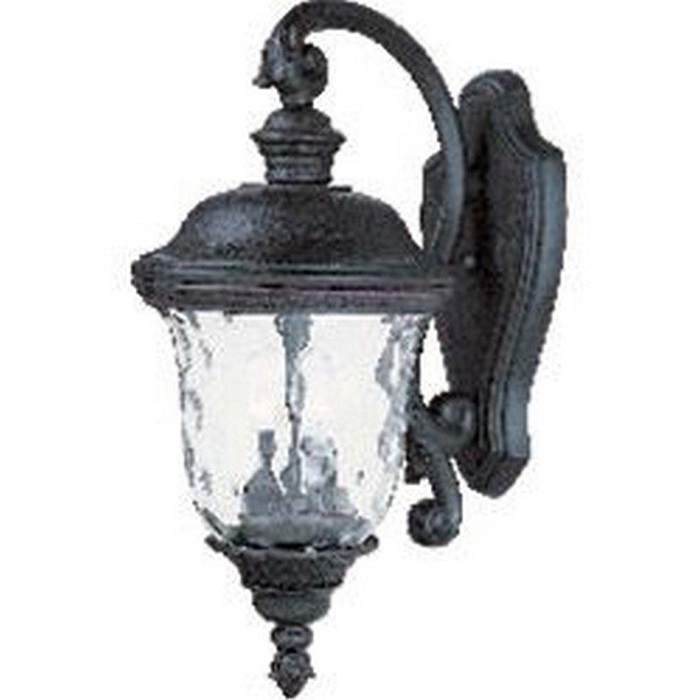 Maxim Lighting 3496WGOB Carriage House DC 2-Light Top Mount Outdoor 20-Inch Wall Lantern, Oriental Bronze Finish