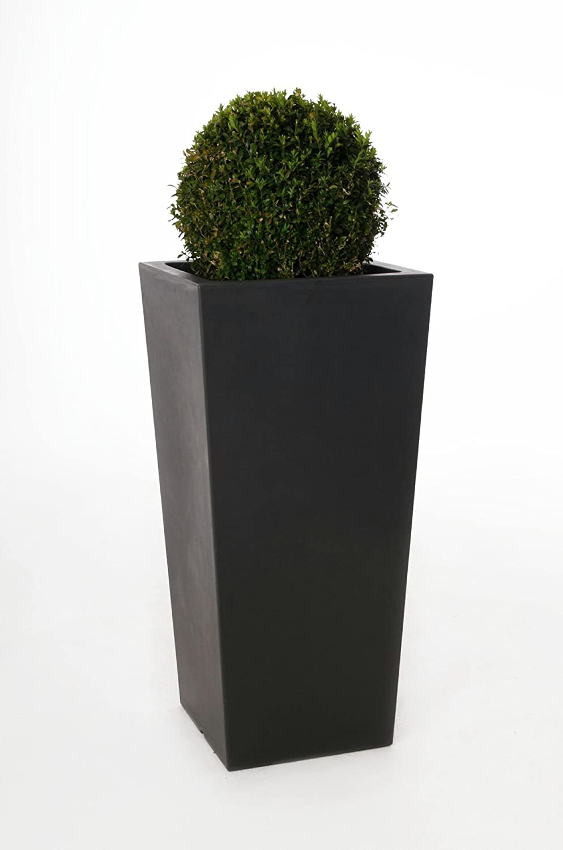Pflanzkübel Blumenkübel Classic aus Kunststoff, 90 cm, Anthrazit