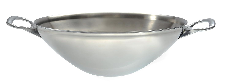 De Buyer Industries Affinity 3743.32 - Wok 2 asas (acero inoxidable, 32 cm): Amazon.es: Hogar