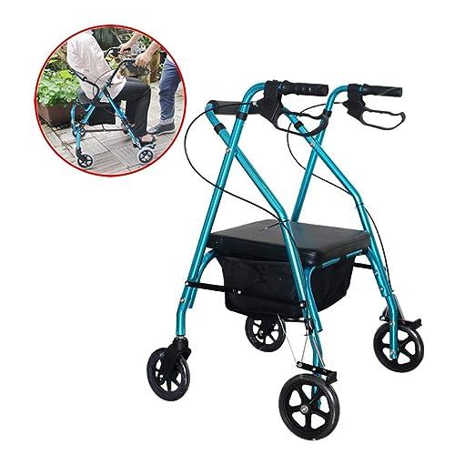 SHOW-WF Andador para Ancianos Plegable, Asiento con Respaldo ...