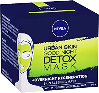 NIVEA Urban Skin Good Night Detox Mask Skin Sleeping Mask, 50ml