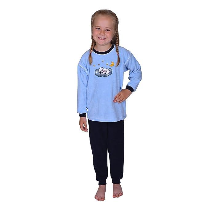 Mauz Pijama para niños de Dos Piezas de Tejido de Rizo con Motivo de un Oveja