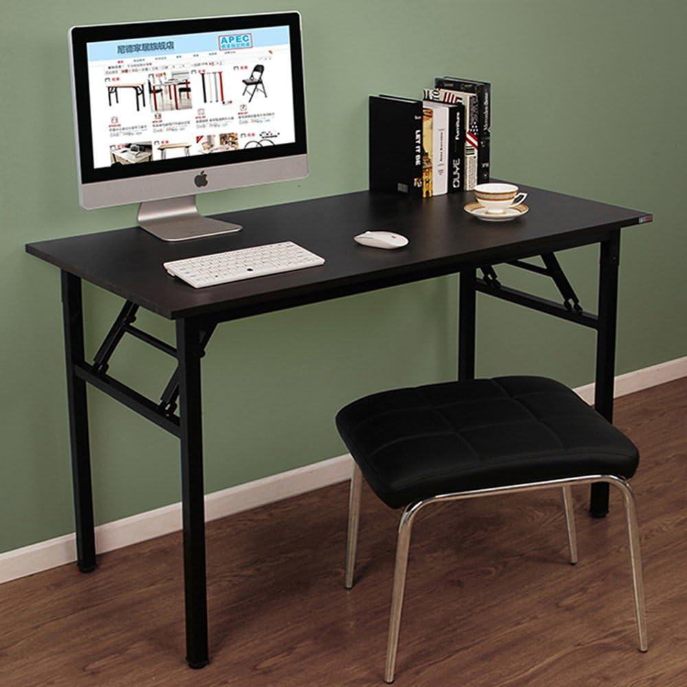 Nero Need Tavoli Pieghevole 120x60cm Scrivanie Studio Tavoli Ufficio Postazioni di lavoro per Computer in Legno Scrivania