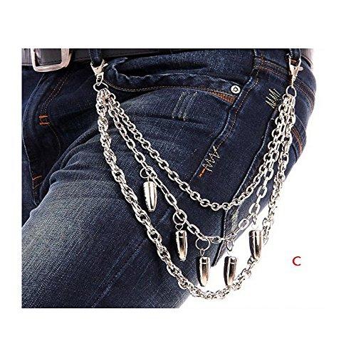 rousers Wallet Key Chain Bullet Pants Rock Jeans Gothic Punk (Hip Hop Bullet Chain)