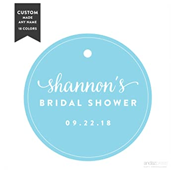 andaz press personalized circle gift tags wedding bridal shower 24 pack