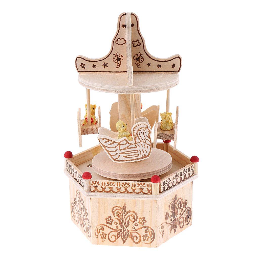 珍しい monkeyjackヴィンテージHorse Carousel B078SY3Z57 Musicボックスおもちゃホームパーティー装飾ミュージカル誕生日ギフト Carousel B078SY3Z57, 大東市:e6a81bab --- arcego.dominiotemporario.com
