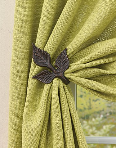 Park Designs Birch Wood Curtain Tie Backs, 2 Piece (21-234)