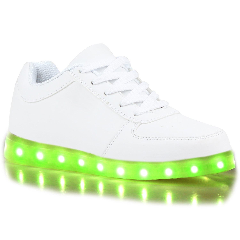 Stiefelparadies High Unisex Damen Herren Kinder LED Sneaker High Stiefelparadies Übergrößen Flandell Weißs Weißs 81e325