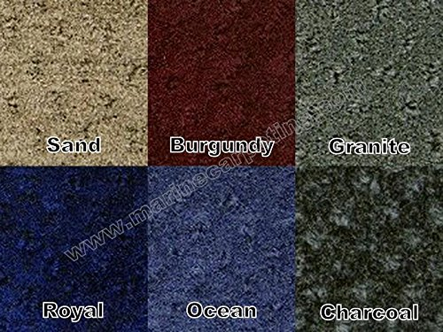 28 oz. Pontoon Boat Carpet - 8' Wide x Various Lengths (Choose Your Color!) (Granite, 8' x 25') - Marine Grade Carpet
