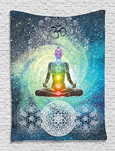 Tapestry Ambesonne Meditation Decorations Turquoise product image