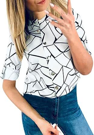 Hokoaidel Camisas Mujer, Blusas y Camisa Mujer Vaquera Sexy ...