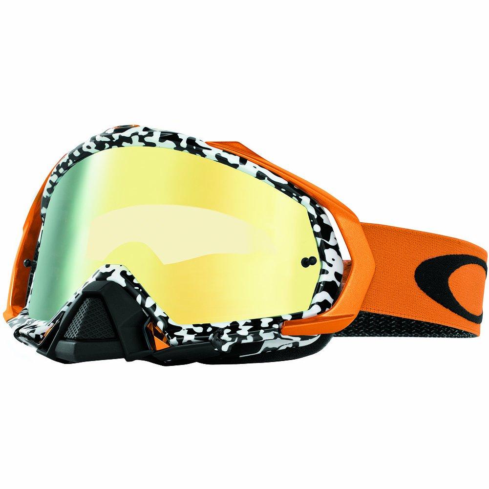 Oakley Mayhem MX Viper Room Goggles (White Frame/24K Iridium Lens)