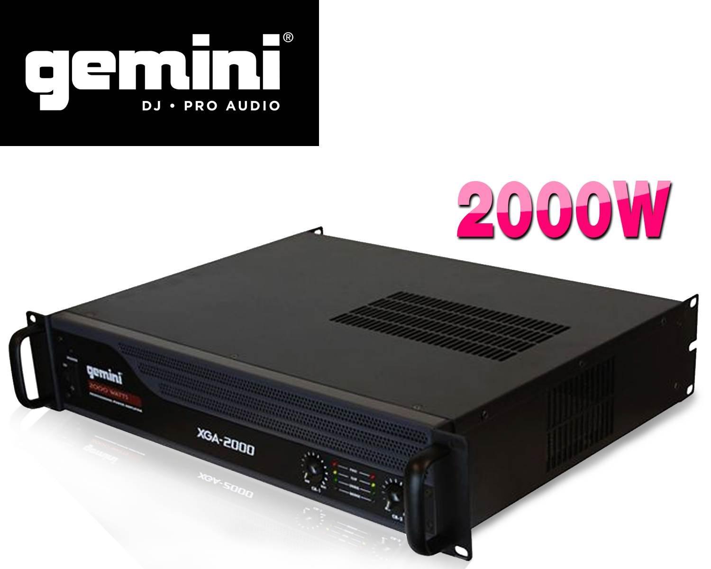 Amplificateur sono PA 2000W max. - GEMINI XGA2000