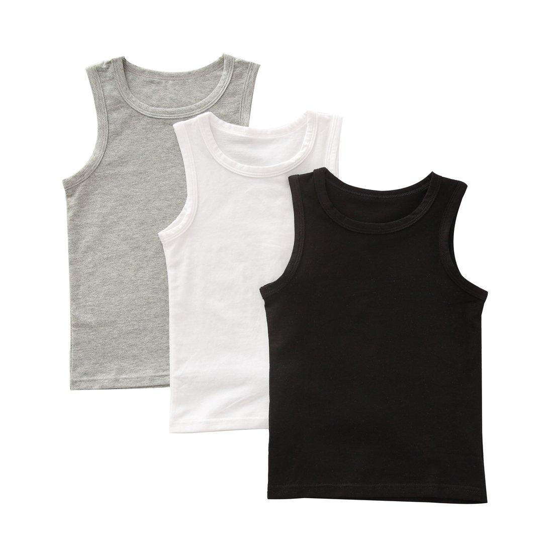 benetia Toddler BoysTank Tops Summer Soft Cotton 3 -Pack