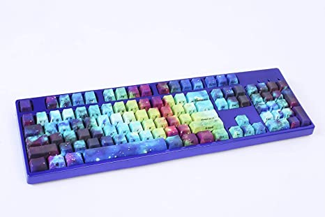 PBT Keycaps Mechanical Keyboard Keycaps 104-Key OEM Customizable Keycaps Suitable for Cherry MX Switch
