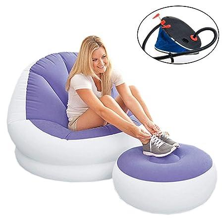 EFGS Inflable 2 Piezas Tumbona, Impermeable Plegable Sofa ...