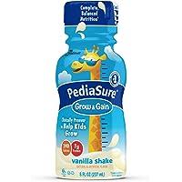 PediaSure Grow & Gain Nutrition Shake For Kids, Vanilla, 8 fl oz (Pack of 16)