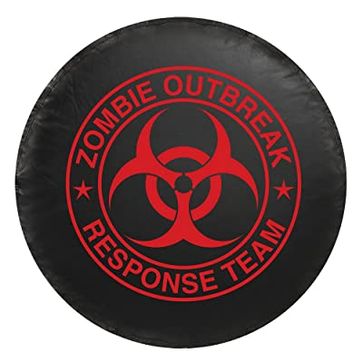 Bully CM-06R Red Zombie Spare Tire Cover - Small: Automotive