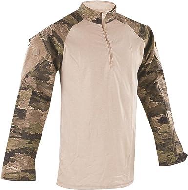 Tru-Spec Camisa de Combate táctica para Hombre, Camisa de Combate, Tru Atacs IX Nyco R/S 1/4 Zip, Ml, Hombre, Color A-TACS IX, tamaño M Long: Amazon.es: Ropa y accesorios