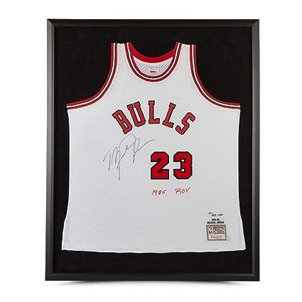 online retailer fa3e6 183e1 Michael Jordan Autographed 1984-85 Framed White Rookie ...