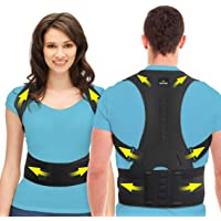 SOMAZ Adjustable Posture Corrector for Men&Women&Kids, Slouching Corrector, Clavicle Support, Back Straightener, Upper and Lumbar Back Brace Support for Rounded Shoulders & Back Pain (XS)