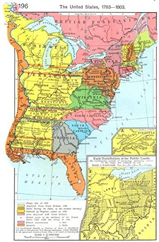 Amazoncom USA US State Of Franklin Early Public - Vintage map of us