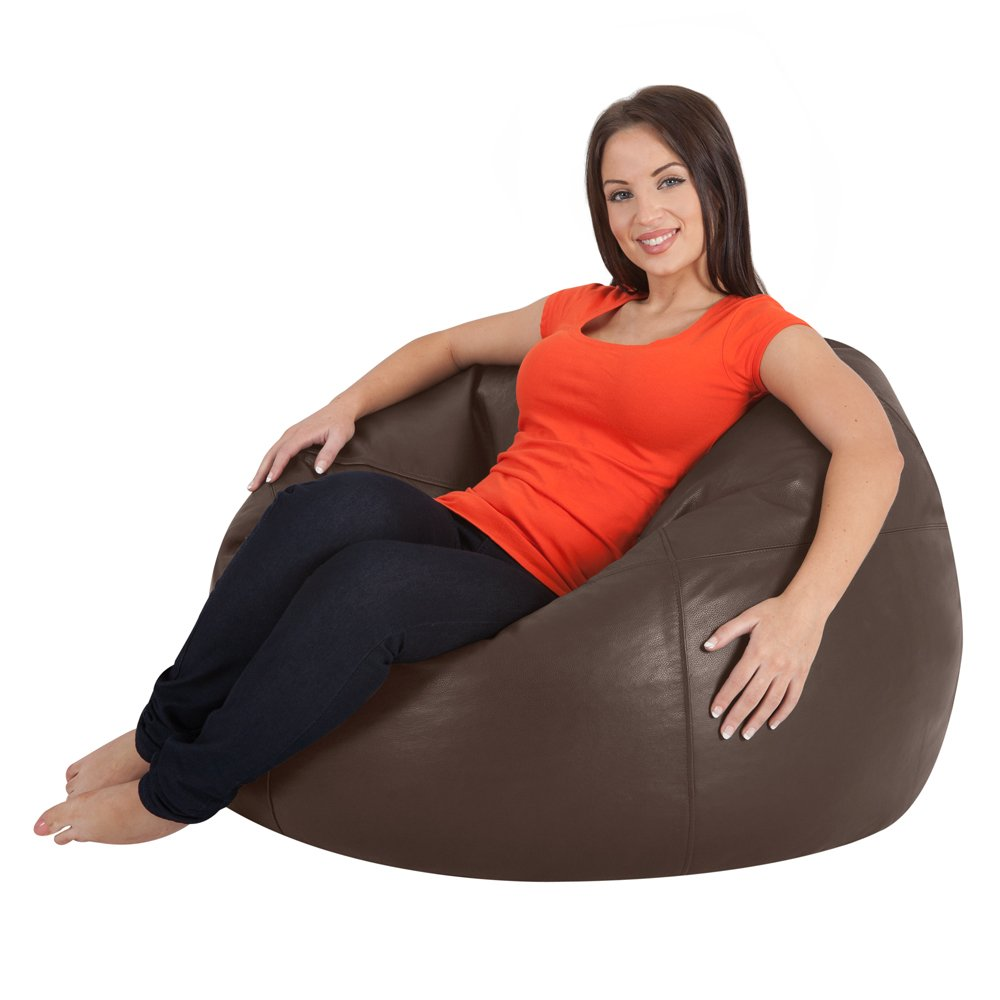 ICON Luxury Real Leather Bean Bag