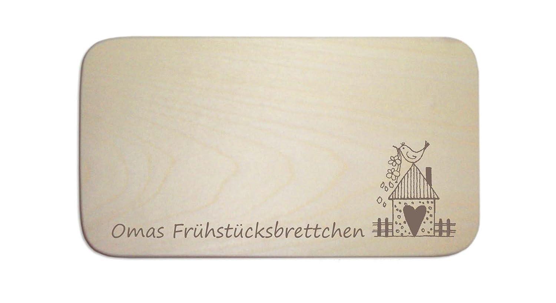 « OMAS FRÜHSTÜCKSBRETTCHEN » das perfekte Geschenk zu Weihnachten Ostern oder Geburtstag DEKOLANDO 0716988308204