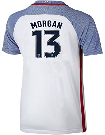 Womens Morgan #13 US National Alex Home Jersey White