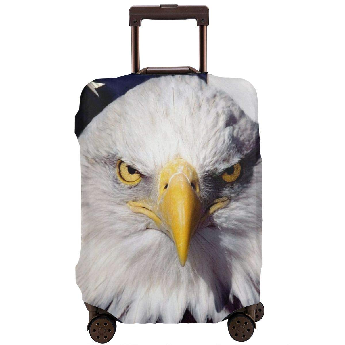 Travel Luggage Cover Spandex Suitcase Protective Cover Washable Baggage Carry on Protector Size XL L M S Bald Eagle American Flag XL