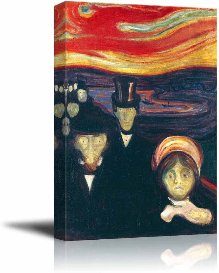 Amazon Com Anxiety By Edvard Munch Canvas Print Wall Art Famous Painting Reproduction 12 X 18 Posters Prints
