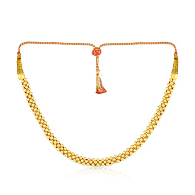 9cdd8f1546 Buy Malabar Gold and Diamonds Tushi Collection 22k (916) Yellow Gold Choker  Necklace for Women Online at Low Prices in India | Amazon Jewellery Store  ...