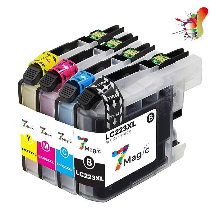 LC223XL Compatible, 7Magic Brother LC223 Cartuchos de Tinta para ...