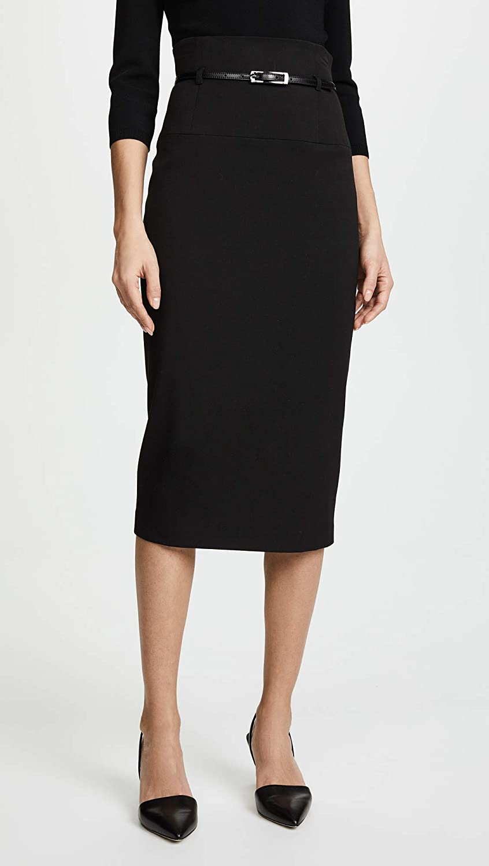 Black Halo Womens High Waisted Pencil Skirt