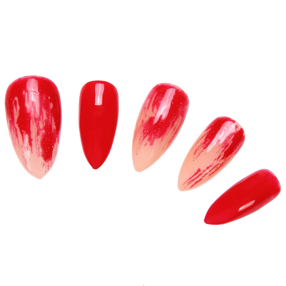 Amazon.com : 24 Pcs of 12 Different Sizes Handmade Finger Fake Nail for Halloween Vampire Display : Beauty