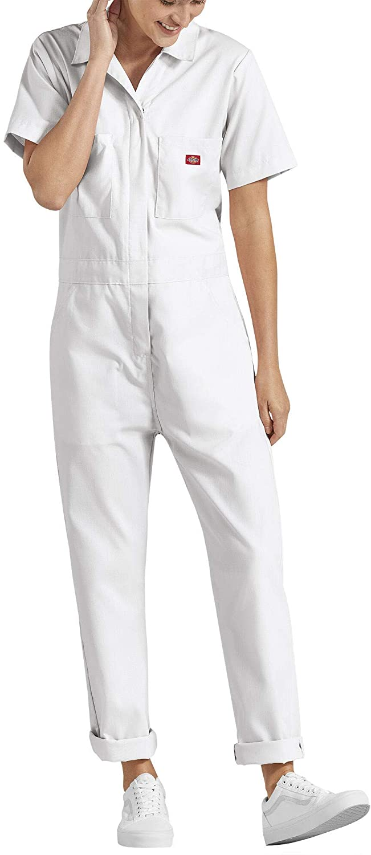 Dickies Women's Short Sleeve Flex Coverall, Moss, X-Small