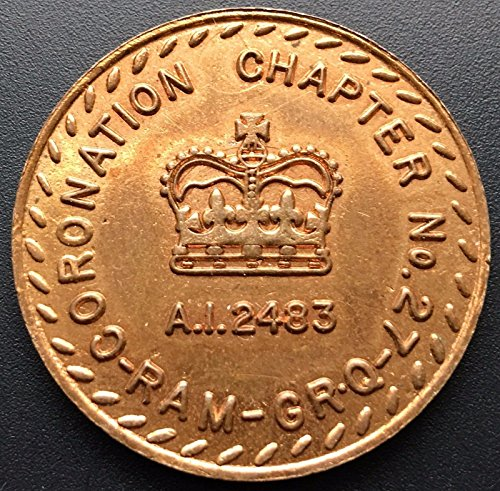 Unbranded MASONIC TOKEN CHAPTER NO. 27 A.I. 2483 ONE PENNY TOKEN COIN