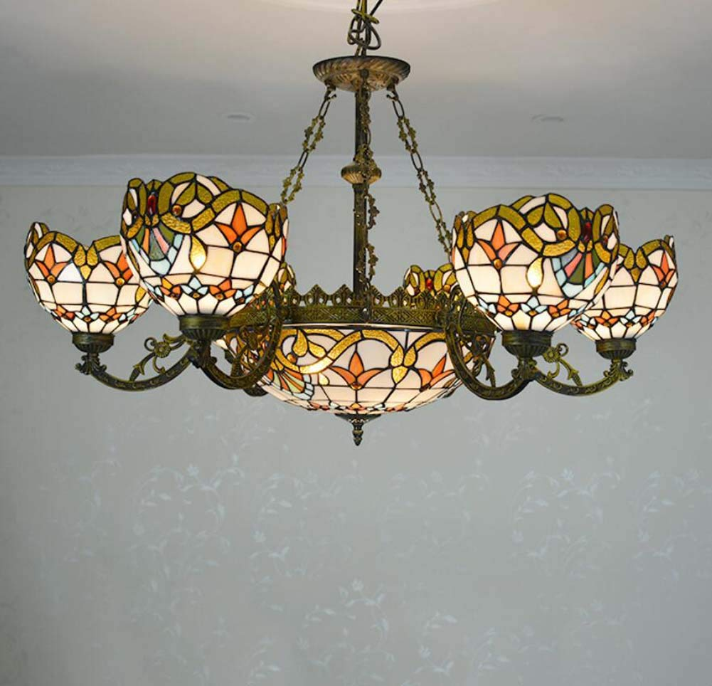 Amazon com gaoliqin tiffany style multi head chandelier,stained
