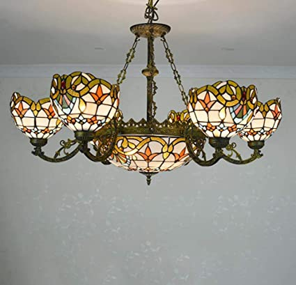 Stupendous Amazon Com Gaoliqin Tiffany Style Multi Head Chandelier Home Interior And Landscaping Ponolsignezvosmurscom
