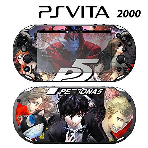 Decorative Video Game Skin Decal Cover Sticker for Sony PlayStation PS Vita Slim (PCH-2000) - Persona (Best Vinyl Skin Designs Ps Vita Games)