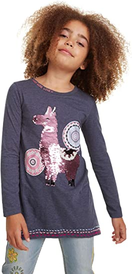 Desigual Girls Derby Longsleeve T-Shirt