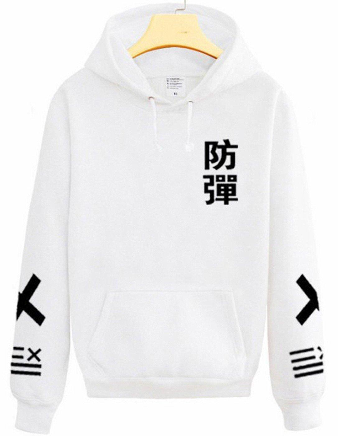 SERAPHY Unisex Hoodies Kpop Bangtan Boys BTS Jumper Sweatshirts For Army SUGA Jin Jimin Jung Kook J-Hope Rap-Monster V White M