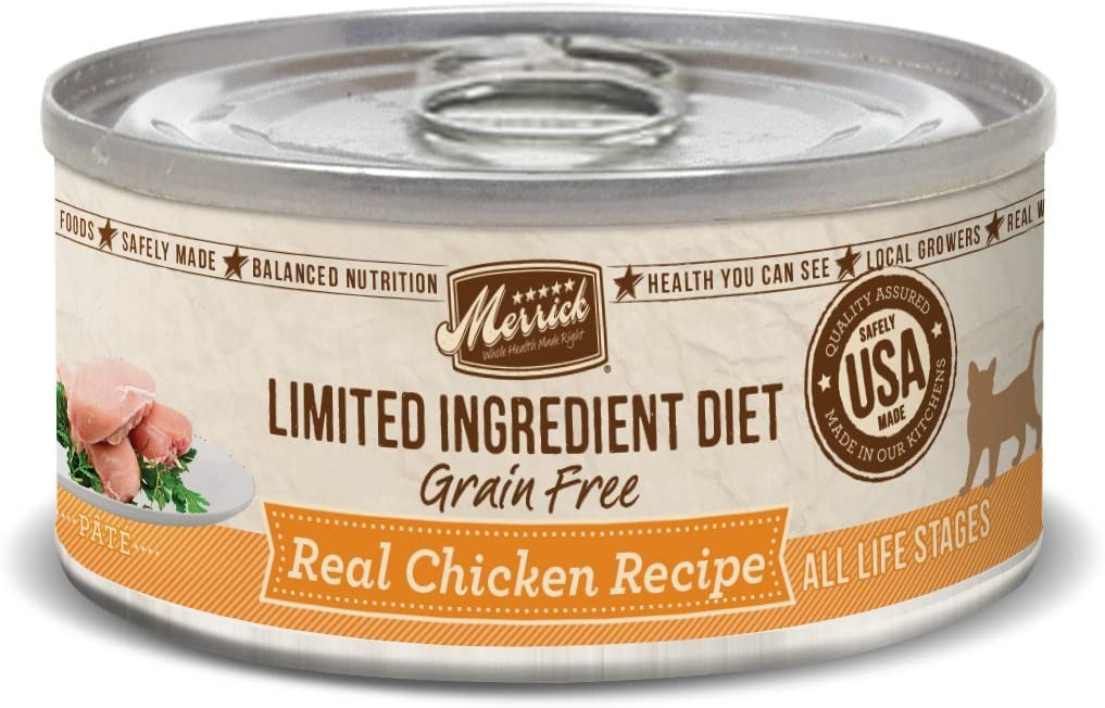 Merrick Grain Free Limited Ingredient Diet Real Meat Canned Adult Wet Cat Food (Case of 24)