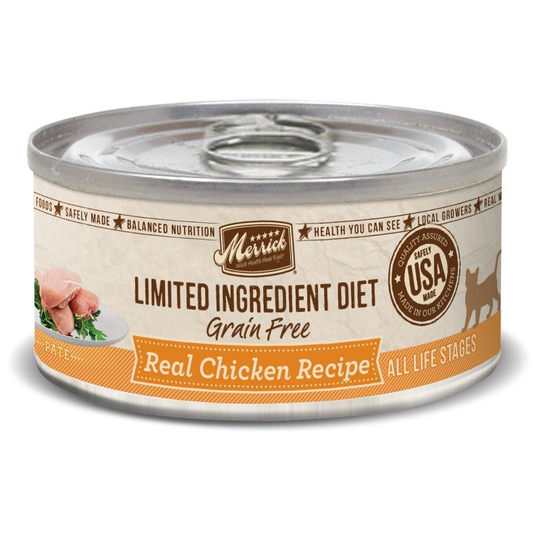 Merrick Limited Ingredient Diet Grain Free Chicken Canned Cat Food, 5 Oz., Case Of 24 by Merrick