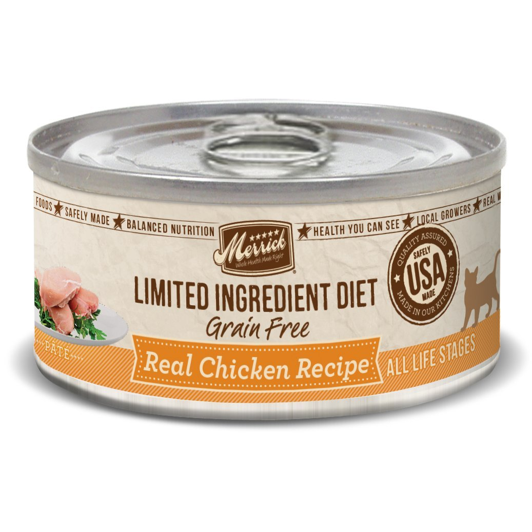 Merrick Limited Ingredient Diet Grain Free Chicken Canned Cat Food, 5 oz, Case 24