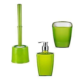 RIDDER 229903050-350 Bad-Accessoire-Set 3-teilig, Neon grün